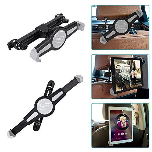 InnoMagi Universale KFZ Tablet Halterung,360 Grad-Rotation Auto Rücksitz Kopfstütze Halterung Einstellbare Halter Für Apple iPad 2/3/4/Mini/Air, Samsung Galaxy Tab, Google Nexus und andere 7-11 Zoll Tablets