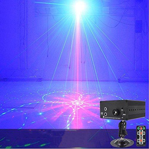 ZxTL LED Lichteffekte, Sound Aktiviert Rotation DJ Disco Licht Flash Licht mit Remote Steuer für Club Pub Partei Weihnachten Lichter