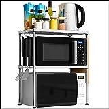 Küchenregale Küchen-Regale/Edelstahl- / Mikrowellen-Regal/Ofen-Gestell/MultifunktionsHaushalts-Lagerregal / 2 Schichten Küche Regal Unterstützung (größe : 55 * 35 * 61cm)