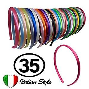 20 Haarbänder Renmex Haarreifen für Mädchen und Kinder Hochwertige Schwarz und Weiß Stirnbänder Bedeckt mit Bändern aus Satin Viele Farben Zubehör Aussehen Kleidung Haarbänder Mode