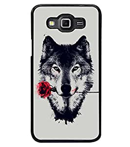 PRINTSWAG WOLF WITH ROSE Designer Back Cover Case for SAMSUNG GALAXY GRAND MAX