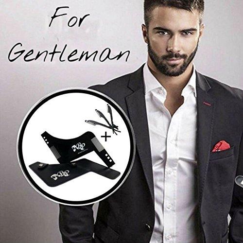 BELINIA PRESTIGE -NEW DESIGN - PEIGNE POUR BARBE - Pochoir barbe/Peigne contour barbe...