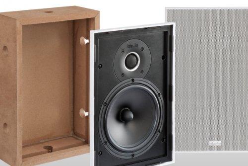Indiana Line TESI Q Paar Lautsprecher 2Wege, Eingebaut rechteckig, Farbe: weiß -