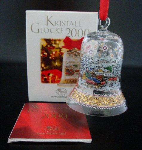 Hutschenreuther Kristall Glocke 2000*Rarität*Neu, Weihnachten, Weihnachtsglocke, Baumanhänger, Baumschmuck, Anhänger, Kristallglocke, Glasglocke -