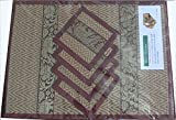 Thai Hand Made Reed place mat & coaster set for 4 people in RED