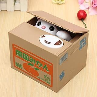 ADAALEN Reizende kreative Piggy Bank Kitty Katze stehlen Geld Münzen Box