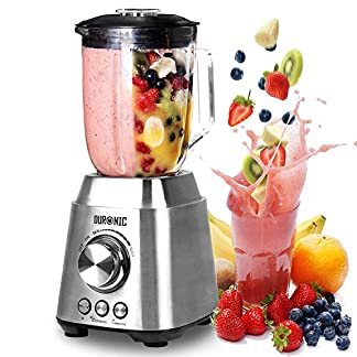 Duronic-BL102-elektrischer-Standmixer-1000-W-Mixer-Hochleistungsmixer-Smoothie-Maker-Edelstahl-15L-Glaskrug-Ideal-fr-Smoothies-Frappe-Lassi-Cocktails-Fitnessdrinks-Obst-Gemse