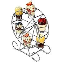 dine@drinkstuff Ferris Wheel Appetiser Set - Soporte Giratorio para Vasos de chupito para Bebidas y canapés