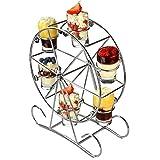 Vorspeisen-Servierset im Riesenrad-Design – drehbarer Schnapsglasständer für Getränke und Häppchen