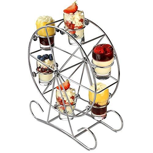 Riesenrad Appetizer Set–Shot Glas Ständer für Getränke und Canapés