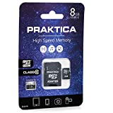 Praktica 8 GB Class 10 MicroSD Card with SD Adapter
