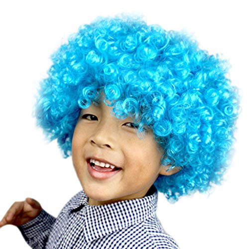 Kashyk Lustige Kinder-Perücke, Afro-Haar-Perücke, Afro-Clownhaar, volle Perücke, hitzebeständig, synthetische Perücke für Cosplay, Kostüm, Holloween