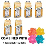 Sanicat Clumping Duo Cat Litter Vanilla And Mandarin Scented 60L Antibacterial Disposable And Hypoallergenic Hygiene Granules With Smell Control Deodorant Formula Combined With Trixie Nub Toy Balls