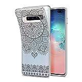 HULI Design Case Hülle für Samsung Galaxy S10e Smartphone im Orientalischen Muster Graphit - Schutzhülle aus Silikon mit orientalischem Mandala Henna Ornament Traumfänger - Handyhülle mit Druck