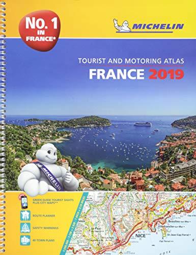 France 2019 -A4 Tourist & Motoring Atlas: Tourist & Motoring Atlas A4 spiral (Michelin Road Atlases)