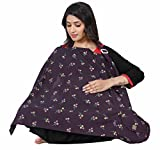 #6: Lula Mom Cotton Nursing Cover for Breastfeeding Privacy EXTRA WIDE - Voilet Color