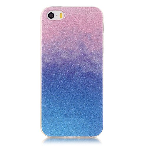 iPhone Case Cover iphone 5 5S Fall, TPU buntes Muster weichen Fall Gummisilikonhaut Abdeckungsfall für iphone 5 5S ( Color : H , Size : Iphone5 5S ) M