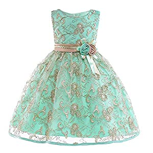 Mädchen Kleider | MEIbax Baby Brautjungfer Pageant Kleid Geburtstag Party Hochzeitskleid Vintage Prinzessin Partykleider Abendkleider | Black Friday and Cyber Monday Week | 50% Deals