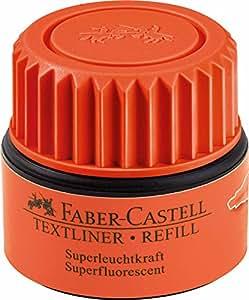 """FABER-CASTELL - Cartouche de recharge """"TEXTLINER 1549"""", orangefluo, pour surligneurs """"TEXTLINER 48 Refill"""", manipulation simple et propre grâce à son système capi"""
