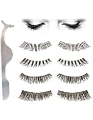 10 Pairs False Eyelashes, SUMERSHA 10 Style Makeup Eyelashes, Multipack Natural 3D Fake Eyelashes - Bonus Eyelashes Clip