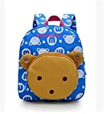 Flyingsky Bear Animals Kids Book Backpack Baby Girls School Bag (Sky blue)