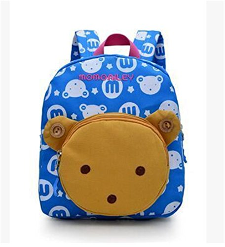 Flyingsky Bear Animals Kids Book Backpack Baby Girls School Bag (Sky blue)