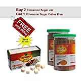 #3: Dhampur Green Demerara Sugar Infused with Real Cinnamon 325g (Pack of 2) with Free Cinnamon Cubes