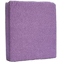 Sábana bajera ajustable para cuna de bebé, 120 x 60 cm, color violeta