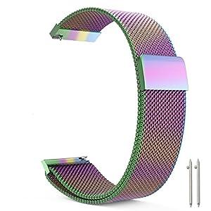 Metou03 Vollmagnetischer Verschluss-Verschluss-Maschenschlaufe Milanese Edelstahl-Metallersatzband-Armband-Bügel-Schnellverschluss für Frauen und Männer