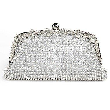 Frauen spezielle Material formale Sport and Event/Party Hochzeit im Freien Büro- & Amp; Karriere Professioanl verwenden Abend Tasche Silver