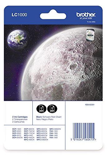 Preisvergleich Produktbild Brother LC1000BKBP2 Ink Cartridge Twin Pack, schwarz