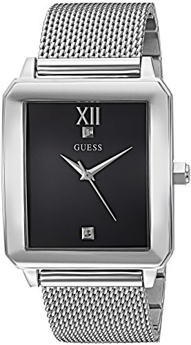 GUESS Men's Stainless Steel Diamond Dial Watch, Color: Silver-Tone (Model: U1074G1)