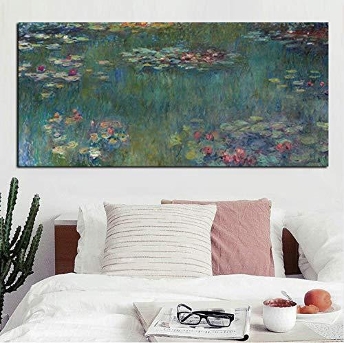 Haoxinbaihuo Venta Monet Pintura Al Óleo Lotus Impresión