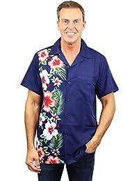 King Kameha | Funky Chemise Hawaïenne | Hommes | XS - 6XL | Manche-Courte | Poche-Avant | Hawaiian-Imprimer | Mariage | Bleu