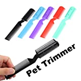 #2: Rrimin Pet Hair Trimmer Grooming Comb 2 Razor Cutting for Dog Cat Trimmer Color Random