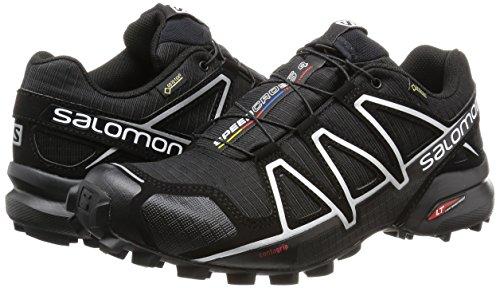 Salomon Homme Speedcross 4 GTX Chaussures de Course à Pied et Trail Running Noir (Black/Black/Silver Metallic)