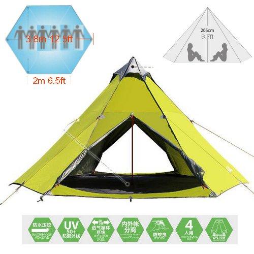 cheaper addd3 91631 Zimo reg; Outdoor Windbreak Pergola Tower Post Camping Mosquito Net Yurt  10x10' Teepee 5-6 Person Tent