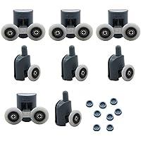 8PCS singola e doppia doccia rulli/Runners/ruote superiore o inferiore 25mm diametro ruota