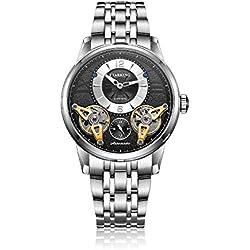 STARKING Men's AM0222SS12 Double Tourbillon Skeleton Luminous Automatic Watch