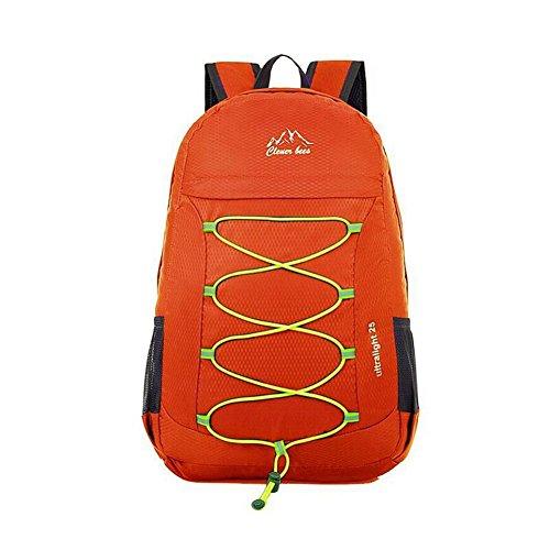 SYSI 31*46*12CM Ultra-leicht Wasserdichte Faltbar Rucksack Freizeit Reise Tasche Bergsteig Backpack Sporthauttasche Orange