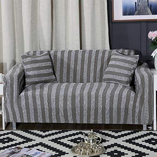 Insun copridivano elasticizzato con tessuto a maglia coperture divano grigio 2 posti(145 a 185 cm)