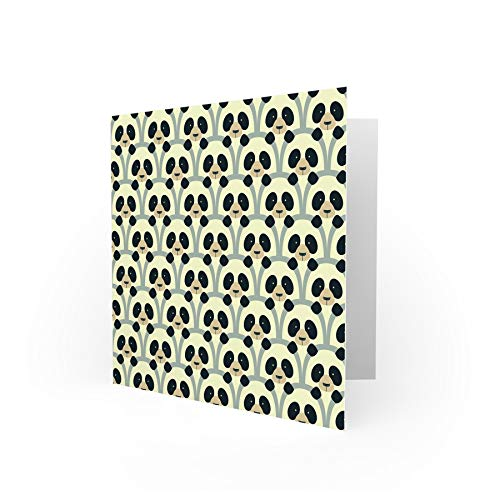 NEW PANDAS ABSTRACT PATTERN BLANK GREETINGS BIRTHDAY CARD ART CS405