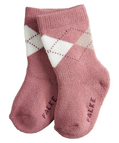 FALKE Unisex Baby Socken Argyle, Rosa (Rosewood 8691), 80 (Herstellergröße: 80-92)