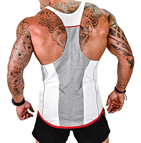 Männer Weste Hoodies Sleeveless 95% Baumwolle Tank Tops Fitness-studios Fitness Bodybuilding Homme Workout Atmungsaktive Unterhemd Attraktiv Und Langlebig Schmuck & Zubehör Halsketten & Anhänger