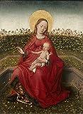 Das Museum Outlet–Madonna und Kind in a Rose Garden–Poster Print Online kaufen (152,4x 203,2cm)