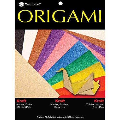 Unbekannt Yasutomo Fold 'Ems Origami beidseitigen Papier 5.875-inch 50/pkg-kraft/Brights, andere, mehrfarbig (Kraft Origami-papier)