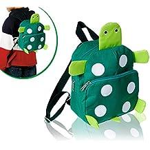 Zaino a spalla asilo e tempo libero zainetto animali 3D Animals colori vivaci con chiusura a cerniera (modello tartaruga). MWS