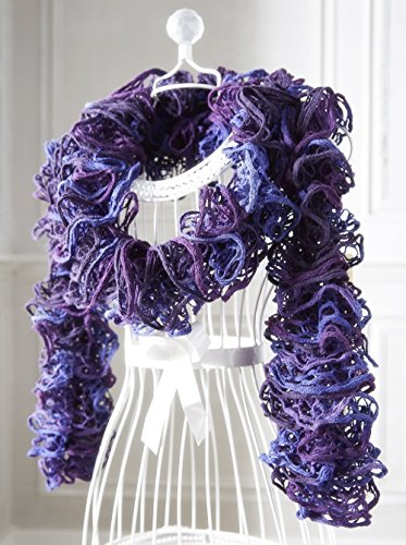 ladies-ruffle-scarf-hand-knitted-in-loop-yarn-in-shades-of-purple-approx-length-180cm