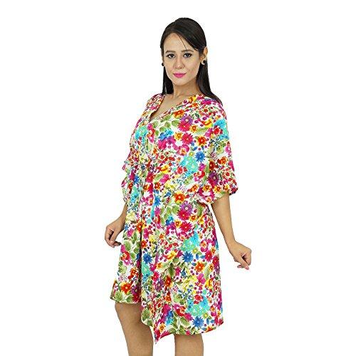 neue indische Baumwolle Kaftan plus Größe Frauen kleiden Kaftan Boho Hippie-Strand vertuschen Mehrfarben-1