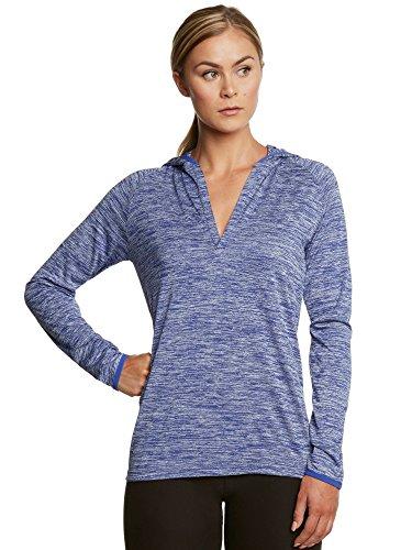 Florale Fleece Hoodie (Jolt Gear Hoodies für Frauen-Pullover Hoodie Running Top-Leichtes Dry Fit Stoff-Frei Handtuch Enthalten, Damen, Azurblau, X-Large)